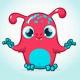 Desenhos animados bonitos do monstro Mascote do vetor Fotografia de Stock Royalty Free