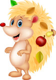 Desenhos animados bonitos do ouriço Imagem de Stock