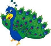 Desenhos animados bonitos do pavão Fotografia de Stock