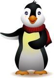Desenhos animados bonitos do pinguim Imagens de Stock
