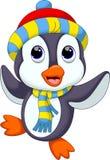 Desenhos animados bonitos do pinguim Fotografia de Stock