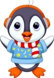 Desenhos animados bonitos do pinguim Fotos de Stock