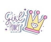 Desenhos animados bonitos do poder da menina Imagens de Stock