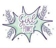 Desenhos animados bonitos do poder da menina Fotos de Stock