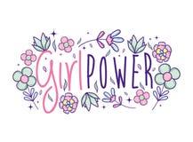 Desenhos animados bonitos do poder da menina Imagens de Stock Royalty Free