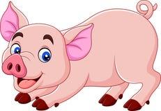 Desenhos animados bonitos do porco ilustração do vetor