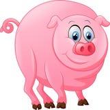 Desenhos animados bonitos do porco Imagens de Stock