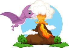 Desenhos animados bonitos do pterodátilo Foto de Stock