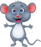 Desenhos animados bonitos do rato Fotos de Stock Royalty Free