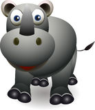 Desenhos animados bonitos do rinoceronte Foto de Stock Royalty Free