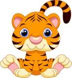 Desenhos animados bonitos do tigre Fotografia de Stock