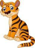 Desenhos animados bonitos do tigre ilustração do vetor
