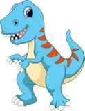 Desenhos animados bonitos do tiranossauro Imagens de Stock Royalty Free