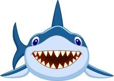 Desenhos animados bonitos do tubarão Fotos de Stock Royalty Free