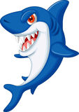 Desenhos animados bonitos do tubarão Imagens de Stock Royalty Free