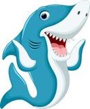 Desenhos animados bonitos do tubarão Fotos de Stock
