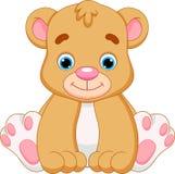 Desenhos animados bonitos do urso do bebê ilustração stock