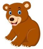 Desenhos animados bonitos do urso marrom Fotos de Stock