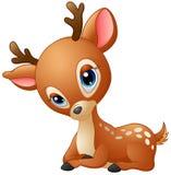 Desenhos animados bonitos dos cervos do bebê Foto de Stock