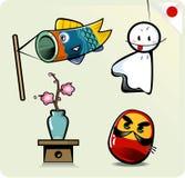 Desenhos animados bonitos japoneses ilustração stock
