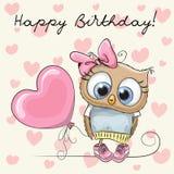 Desenhos animados bonitos Owl Girl Fotografia de Stock