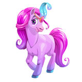 Desenhos animados bonitos que estão o cavalo novo Fotos de Stock Royalty Free
