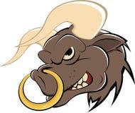 Desenhos animados Bull com anel de nariz Imagem de Stock Royalty Free
