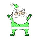 desenhos animados cômicos alegres de Santa Fotografia de Stock Royalty Free