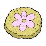 desenhos animados cômicos biscoito cozido ilustração do vetor