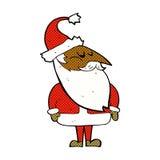 desenhos animados cômicos Papai Noel Imagem de Stock