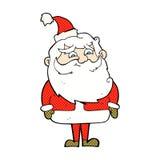 desenhos animados cômicos Papai Noel Fotos de Stock