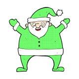 desenhos animados cômicos Papai Noel Fotografia de Stock Royalty Free