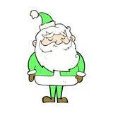 desenhos animados cômicos Papai Noel Foto de Stock