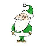 desenhos animados cômicos Papai Noel Fotos de Stock Royalty Free