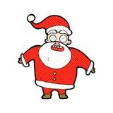 desenhos animados cômicos Papai Noel chocado Imagens de Stock