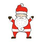 desenhos animados cômicos Papai Noel feio Fotos de Stock Royalty Free