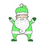 desenhos animados cômicos Papai Noel feio Foto de Stock