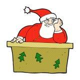 desenhos animados cômicos Papai Noel furado Foto de Stock Royalty Free