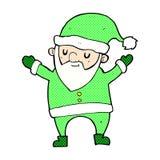 desenhos animados cômicos que dançam Santa Fotos de Stock Royalty Free