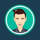 Desenhos animados, cabeça humana do vetor, ícone, cara, ilustração Imagens de Stock Royalty Free