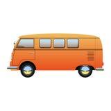 Desenhos animados camionete retro ilustração, ônibus do vetor Fotos de Stock Royalty Free