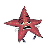 Desenhos animados cansados da estrela de mar Foto de Stock