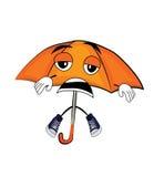 Desenhos animados cansados do guarda-chuva Imagem de Stock