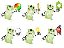 Desenhos animados cem contas de dólar 2 Imagem de Stock