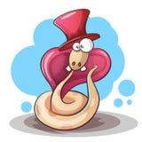 Desenhos animados, chapéu e dente da serpente ilustração royalty free