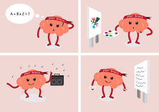 Desenhos animados characters1 do cérebro Imagens de Stock
