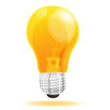 Desenhos animados claros do ícone da lâmpada Imagem de Stock Royalty Free