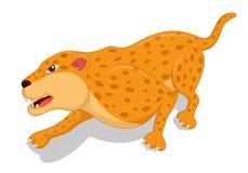 Desenhos animados com fome do leopardo Ilustração Royalty Free