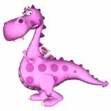 Desenhos animados cor-de-rosa do dragão Imagem de Stock