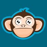 Desenhos animados críticos da cabeça do macaco do macaco Imagens de Stock